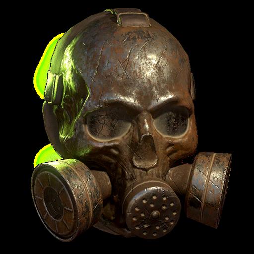 Rusty raider skull gas mask