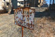 FO4 Concord road sign