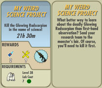 FoS My Weird Science Project card