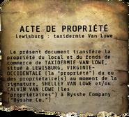 FO76 Acte de propriété