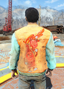 Fo4 Bottle and Cappy Orange Jacket and Jeans back