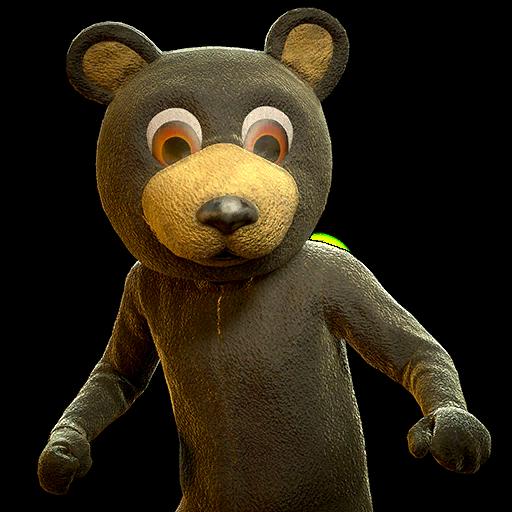 Black bear mascot outfit