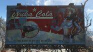 Nuka-Girl billboard RR truck stop