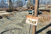 FO4 Street sign dont fall