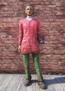 FO76 Skiing Red and Green Outfit