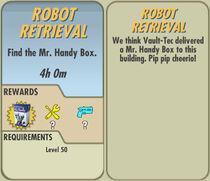 FoS Robot Retrieval card