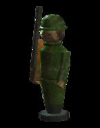 Wooden soldier toy
