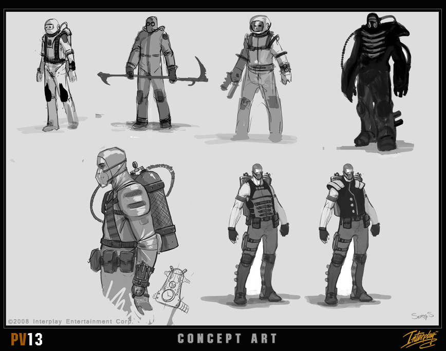 Ausir-fduser/Another piece of Project V13 concept art - character sketches