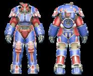 FO4CC X-01 power armor patriotic
