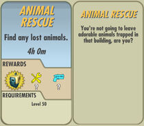 FoS Animal Rescue card