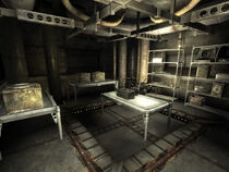Lower level weapons cache