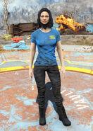 Blue Vault 111 t-shirt female
