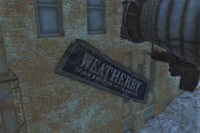 FO4 Weatherby sign