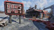 FO76 Red Rocket Abandoned bog town (01)