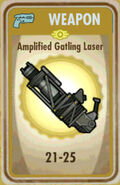FoS Amplified Gatling Laser Card