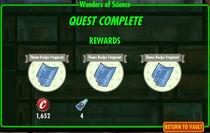 FoS Wonders of Science rewards