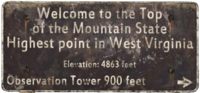 FO76 Mountain State sign