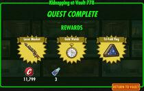 FoS Kidnapping at Vault 778 rewards