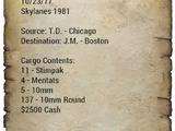 Skylanes smuggling manifest