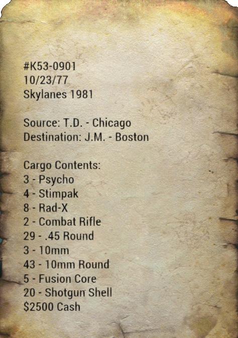 Manifeste de contrebande de la Skylanes
