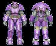FO4CC X-01 power armor purple