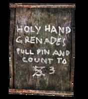 FNV WW Holy Hand Grenade
