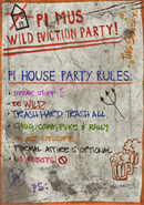 Eviction party poster