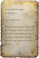 FO4 Earl Sterling Case Notes Page 1