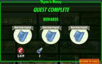 FoS Thyme is Money rewards
