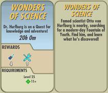 FoS Wonders of Science card