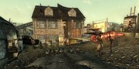 Raid shack Ground view front
