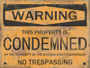 F76 Watoga Condemned Poster