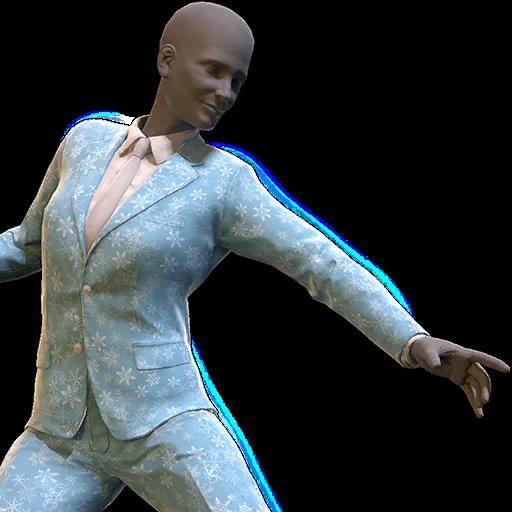 Festive winter pant suit