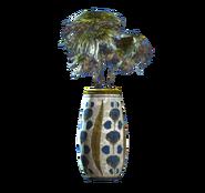 Floral rounded vase