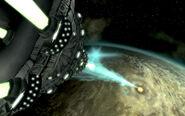 Death Ray firing Earth