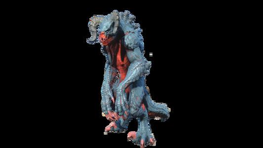 FO4 Deathclaw chameleon blue