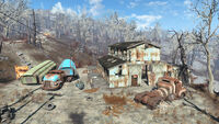 FO4 Settler campsite (Natick outskirts)