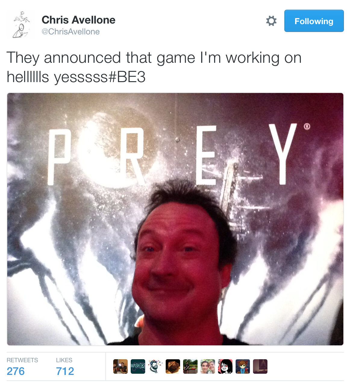 Agent c/Chris Avellone to work on Prey