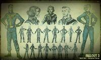 Art of Fallout 3 vault suit CA1