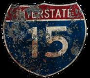 FNV I-15 sign