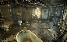 FO3 Megaton mens restroom bathtub
