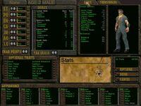 Van Buren male character screen