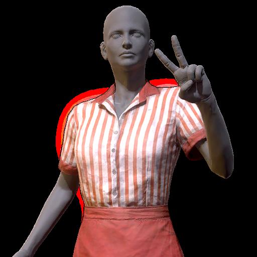Amusement park worker outfit clean