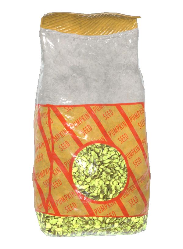 Radioactive pumpkin seeds