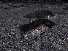 Courier's grave