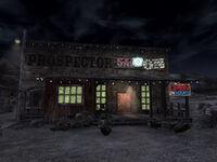 Prospector Saloon at night