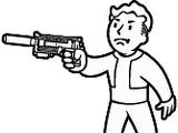 10-мм пистолет с глушителем из легированной стали