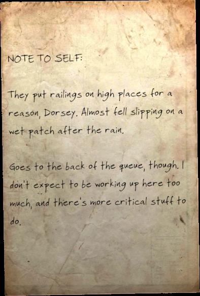 Note to self: Railings