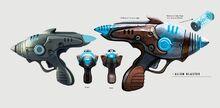 Art of Fallout 4 alien blaster pistol