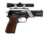 9mm pistol with scope modification